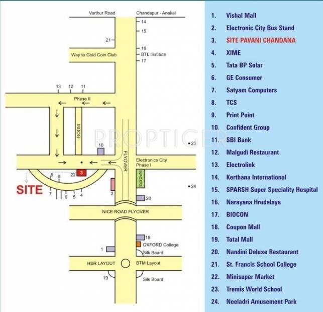 Images for Location Plan of Pavani Chandana