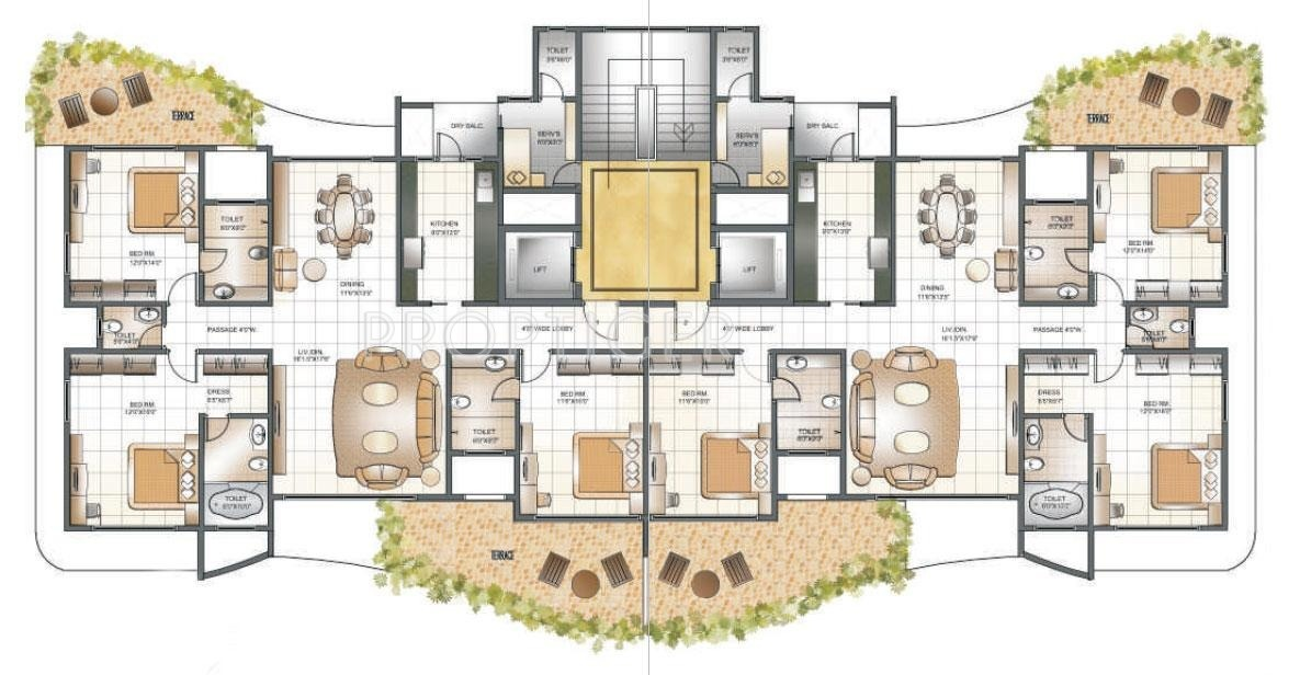 Rest house design floor plan Guest house layout plan