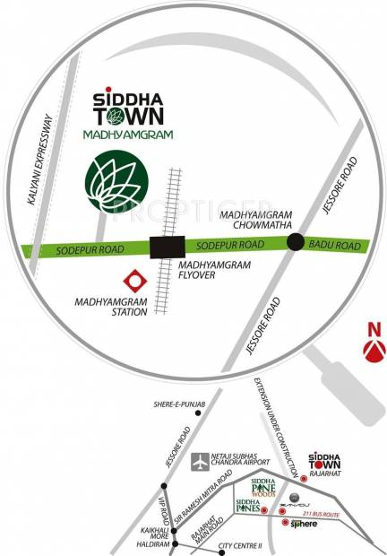Images for Location Plan of Siddha Town Madhyamgram
