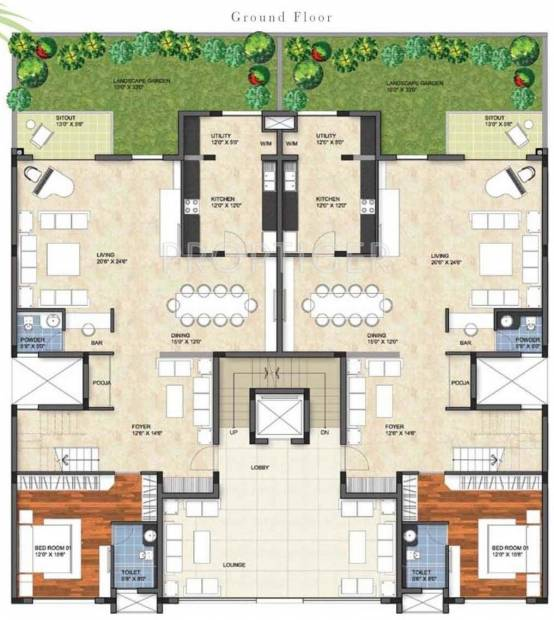 images for cluster plan of prestige group garden bay