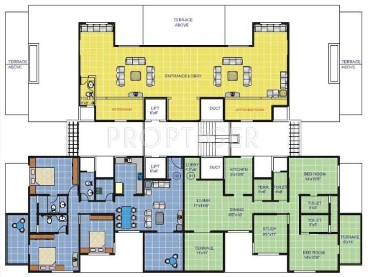 Plan And Elevation Of Prism : Sq ft bhk t apartment for sale in pristine
