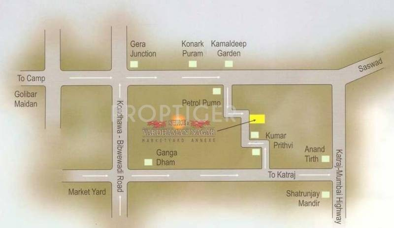 AK Surana Developers Shree Vardhman Nagar Location Plan