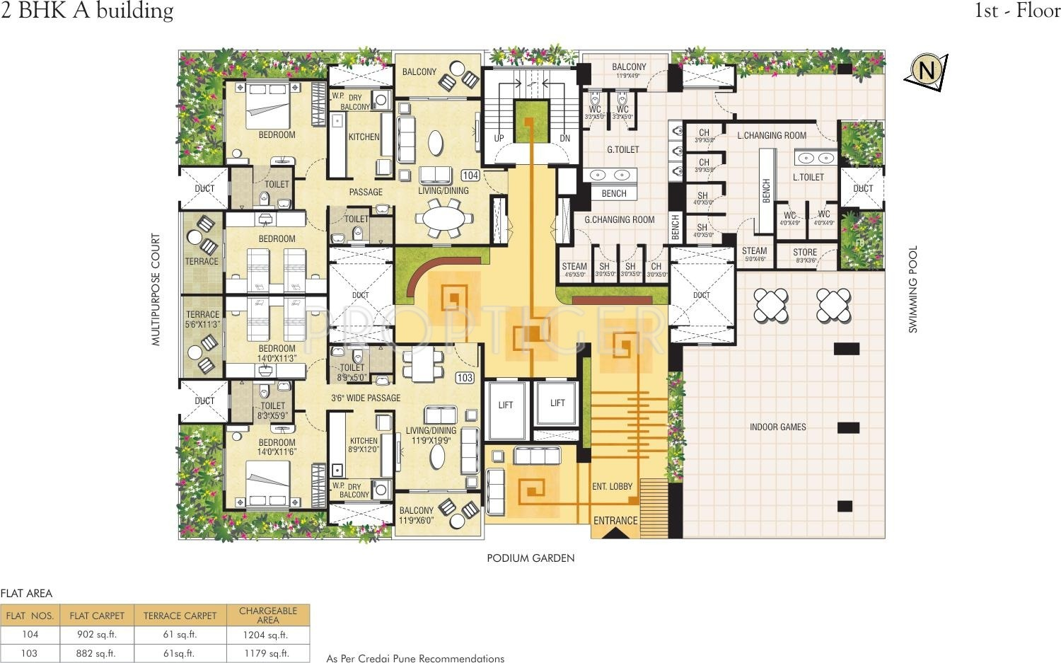 1273 sq ft 3 bhk 3t apartment for sale in pride housing for Apartment building plans for sale