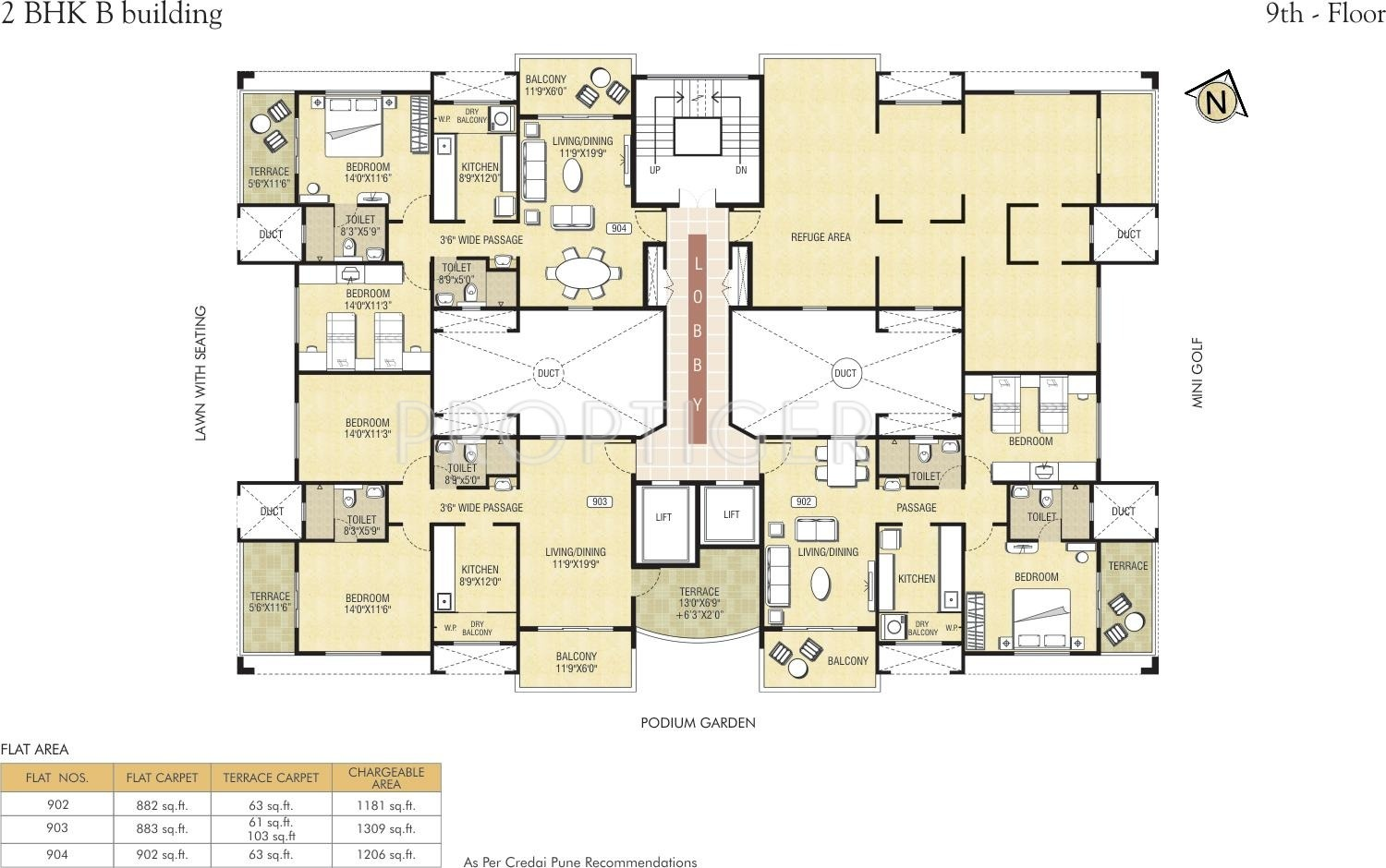 1600 sq ft 3 bhk 3t apartment for sale in pride housing for Apartment cluster plans