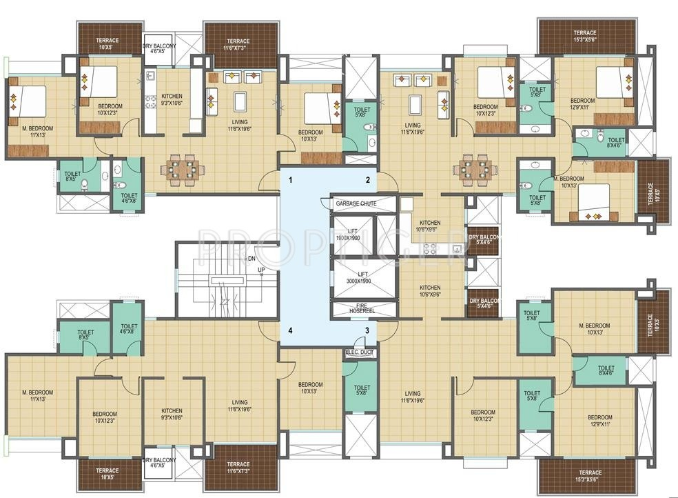 675 sq ft 1 bhk 1t apartment for sale in pharande spaces for 675 sq ft floor plan