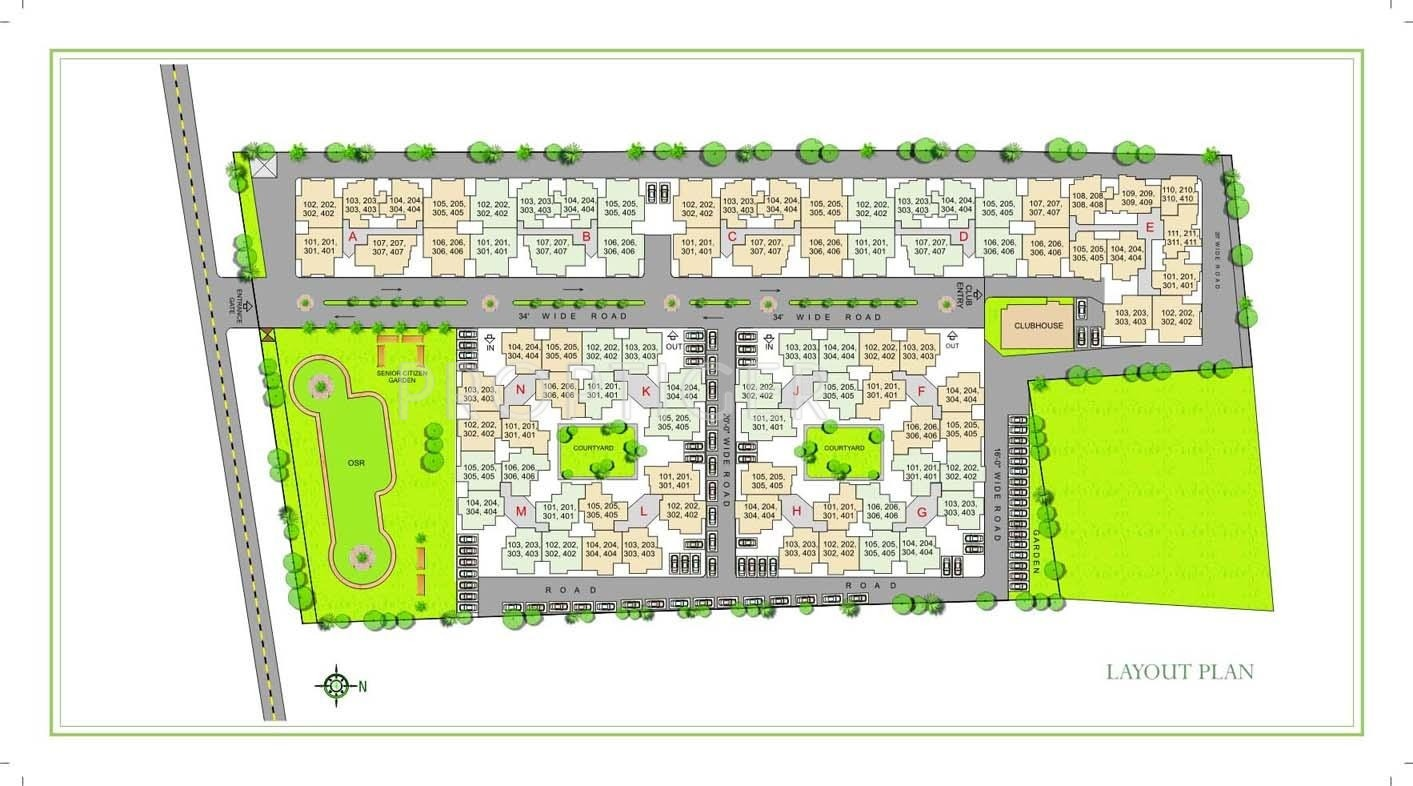 1010 Sq Ft 3 Bhk 2t Apartment For Sale In Arihant Housing