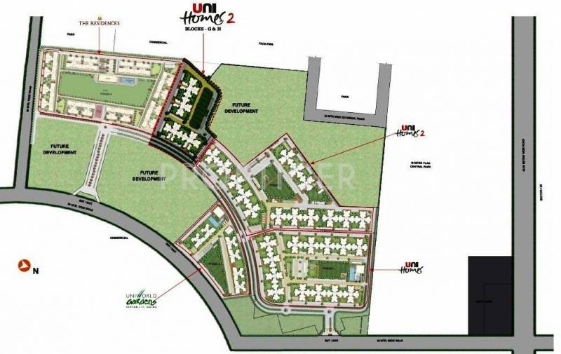 unihomes-2 Images for Master Plan of Unitech Unihomes 2