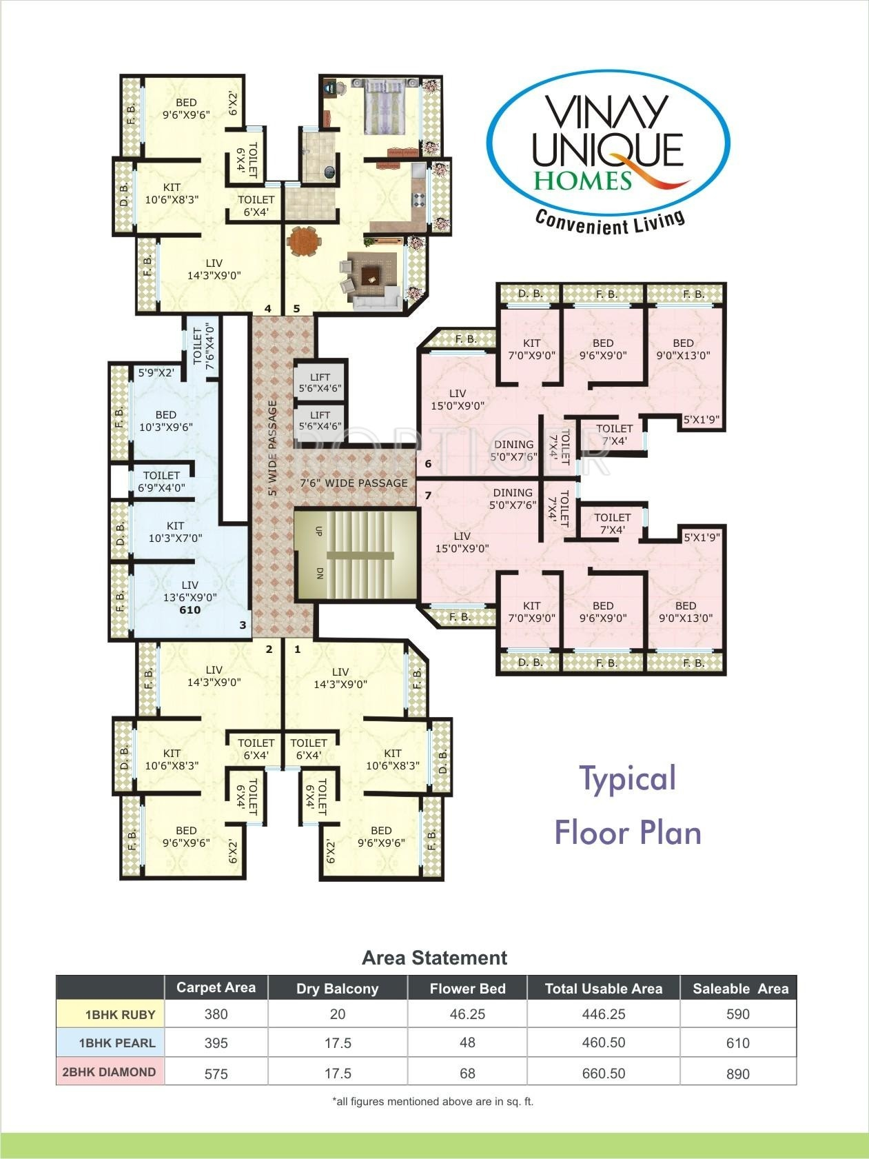 920 sq ft 2 bhk 2t apartment for sale in vinay unique for Cluster home plans