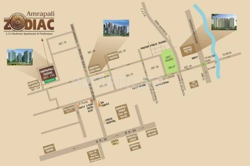 Images for Location Plan of Amrapali Zodiac