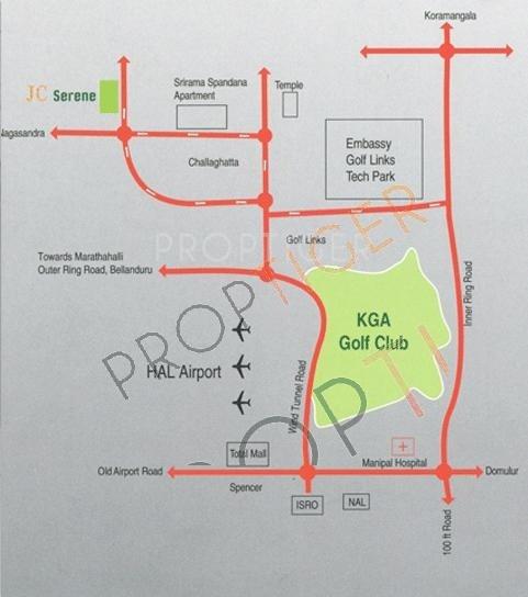 Winning Edge Group JC Serene Location Plan