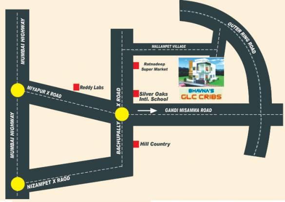 bhavanas-glc-cribs-phase-2 Location Plan