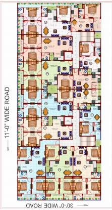homes Shree Balaji Homes Cluster Plan from 1st to 6th Floor