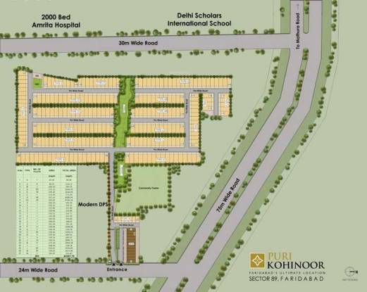 kohinoor-faridabad Master Plan
