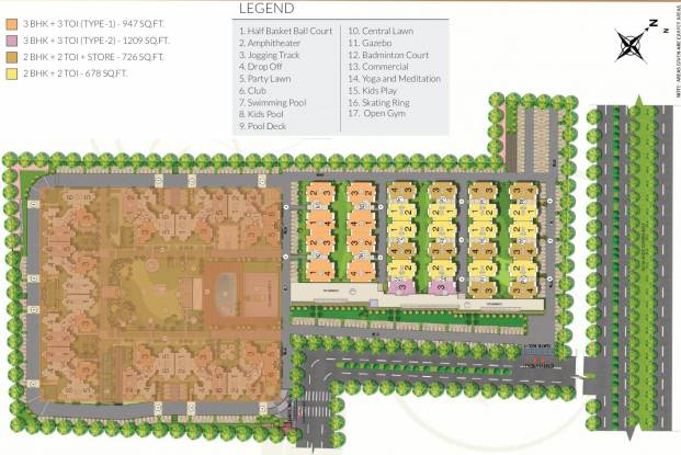 the-express-park-view-ii-low-rise-apartments Layout Plan