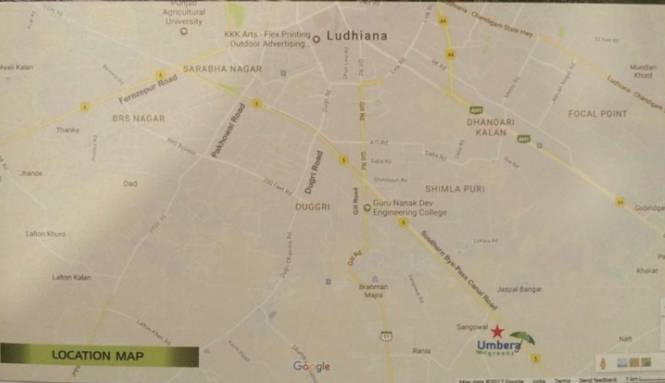 umbera-greens Location Plan