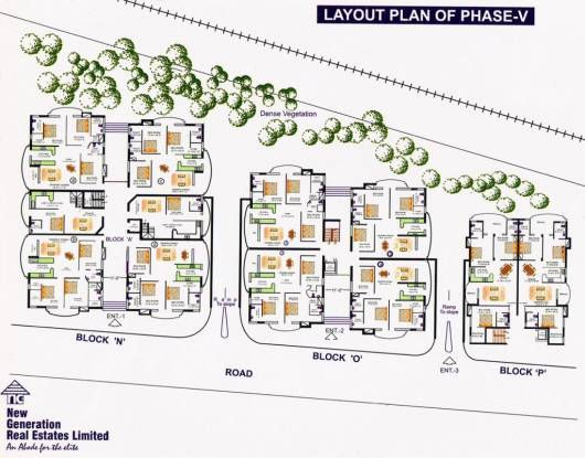 extension-apartments Cluster Plan