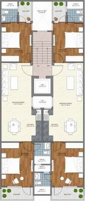 homes-2 Shree Shyam Homes 2 Cluster Plan from 1st to 4th Floor