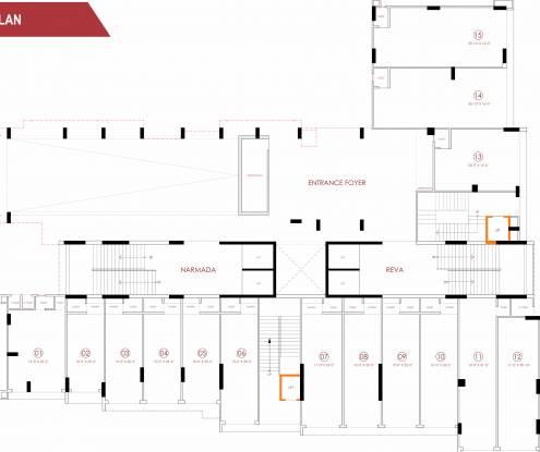 parisar Narmada And Reva Cluster Plan for ground Floor