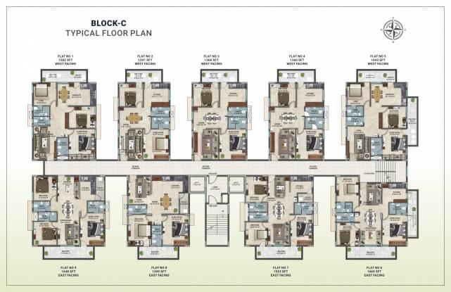 cyan Block C Cluster Plan