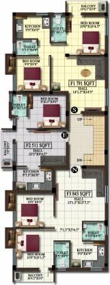 jiva Jiva Cluster Plan for 1st Floor