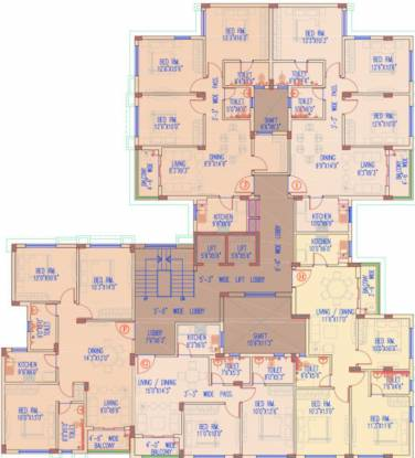eternia Cluster Plan from 1st to 5th Floor
