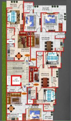 homes Homes Cluster Plan For Typical Floor
