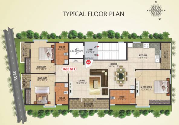 manan-exotica Manan Exotica Cluster Plan from 1st to 4th Floor
