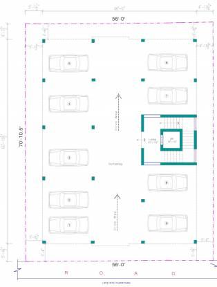 ruvy-vishnu-flats Ruvy Vishnu Flats Cluster Plan for ground Floor