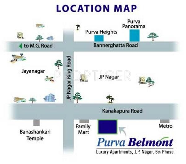 Images for Location Plan of Puravankara Purva Belmont