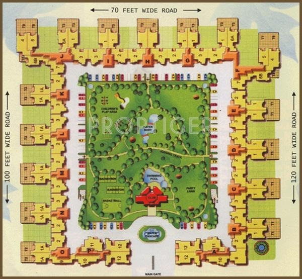 Images for Site Plan of Jaipuria Sunrise Greens Apartment