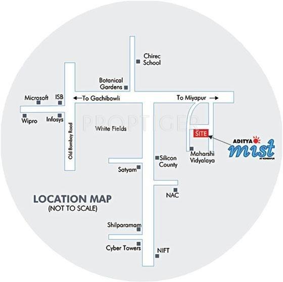 Images for Location Plan of Sri Aditya Mist