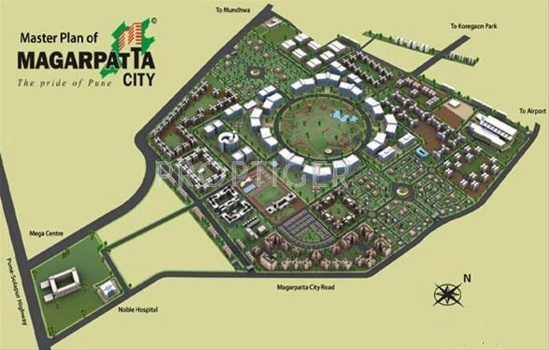 Master Plan - Magarpatta Mulberry Gardens Hadapsar Pune - Proptiger.com