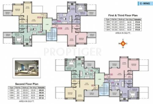 770 Sq Ft 2 Bhk 2t Apartment For Sale In The Shiv Builders
