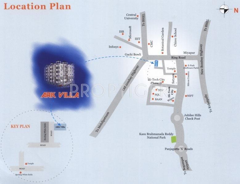 Srinilaya Ark Villa Location Plan