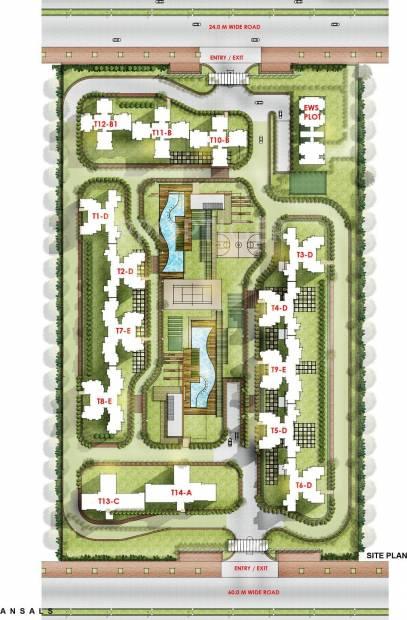 Images for Site Plan of Ansal Sushant Serene Residency