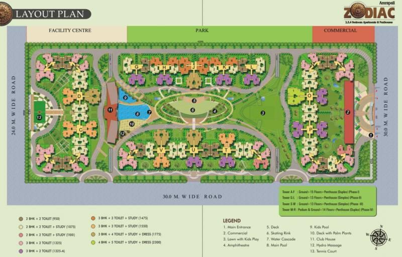 Images for Layout Plan of Amrapali Zodiac