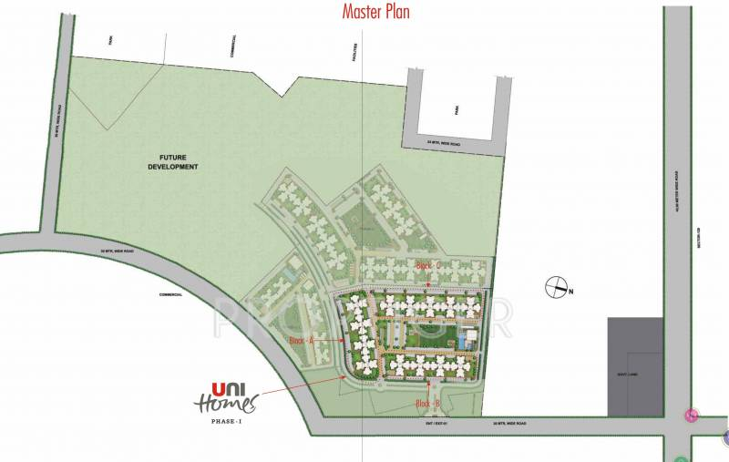 unihomes Images for Master Plan of Unitech Unihomes