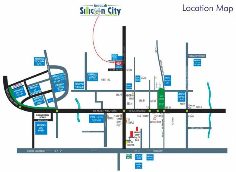 Images for Location Plan of Amrapali Silicon City
