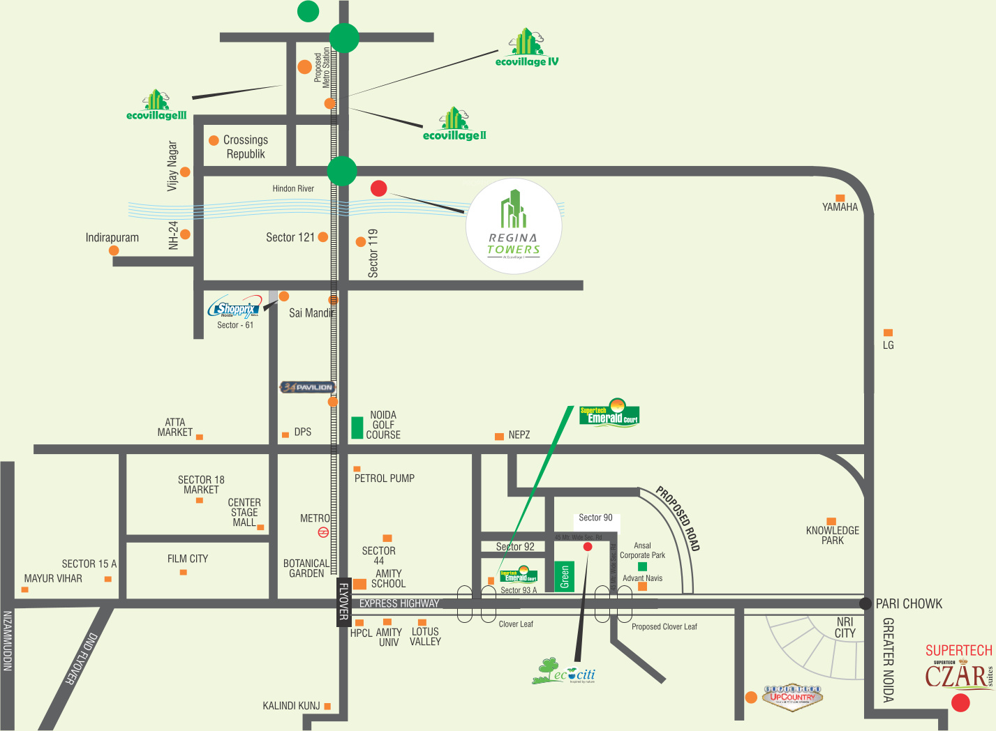 Supertech Eco Village 1 In Sector Noida Extension Greater Club Car Villager 6 Wiring Diagram Mar 2017
