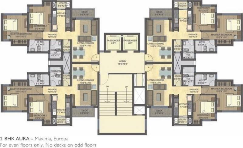 1 2 3 Bhk Cluster Plan Image Lodha Group Casa Bella