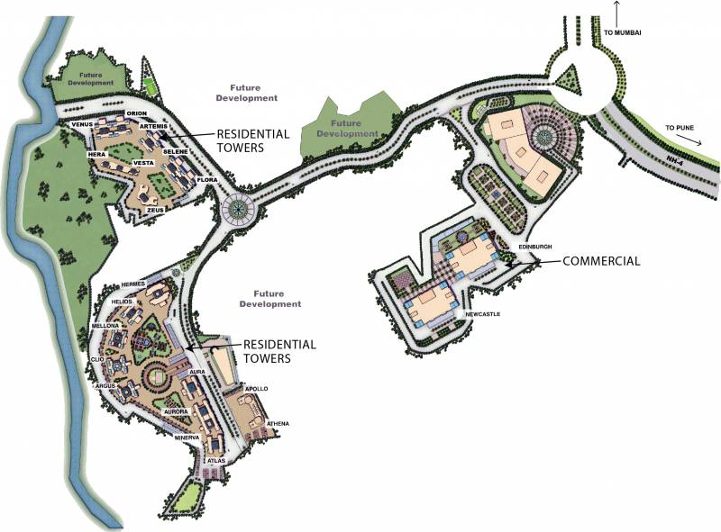 fortune-city Images for Master Plan of Hiranandani Fortune City