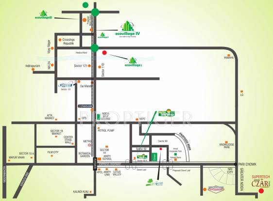 Images for Location Plan of Supertech Eco Village 2
