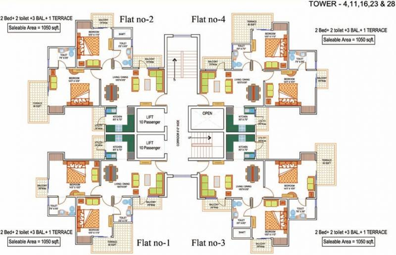 Images for Cluster Plan of La Residentia Pvt Ltd La Residentia