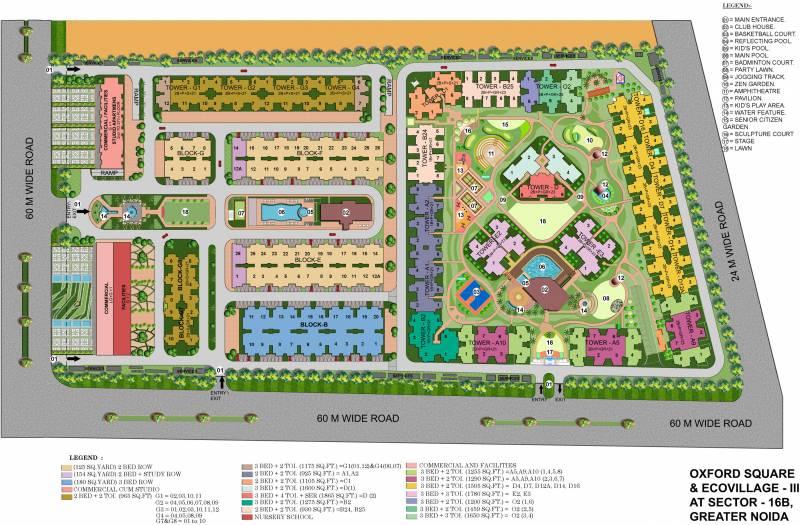 Images for Site Plan of Supertech Eco Village 3