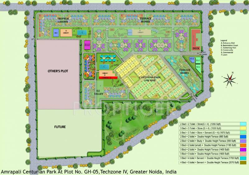 terrace-homes Images for Layout Plan of Amrapali Terrace Homes