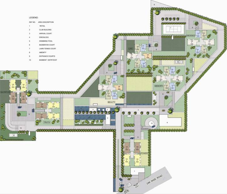 Images for Site Plan of Vatika The Seven Lamps