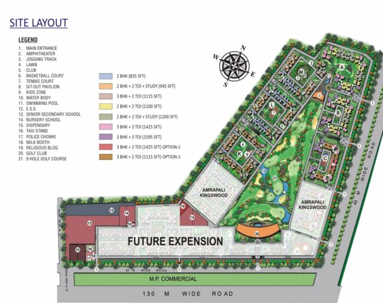 Images for Site Plan of Amrapali Golf Homes