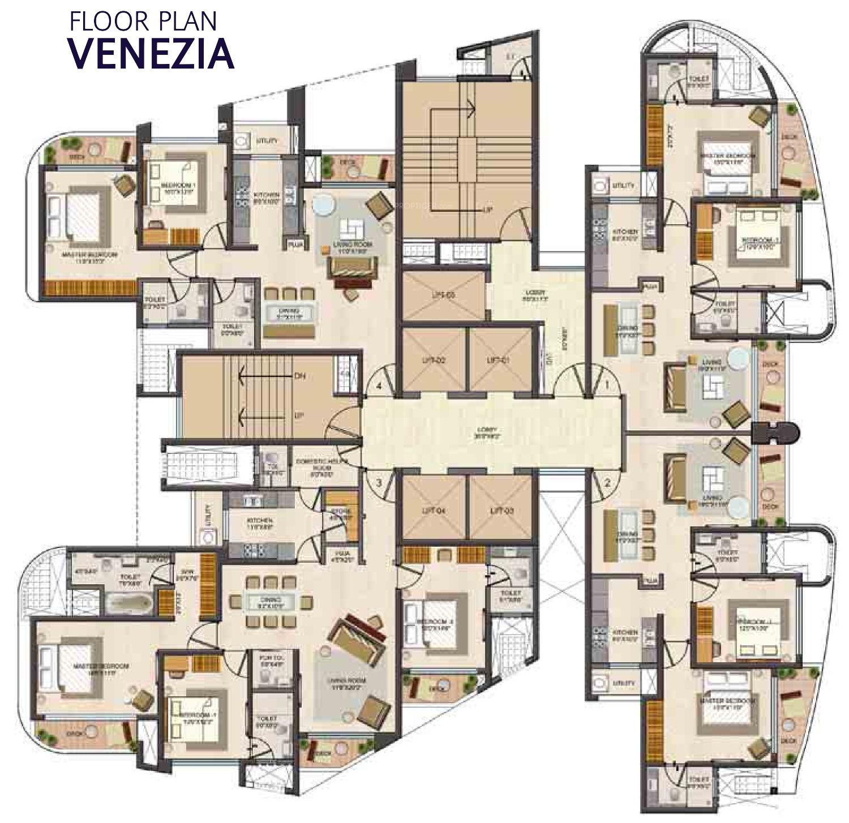 1998 Sq Ft 3 Bhk 3t Apartment For Sale In Lodha Group Fiorenza Goregaon East Mumbai