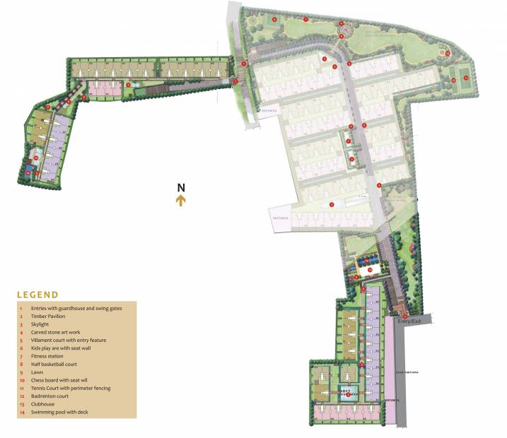 Images for Master Plan of Unitech Resorts