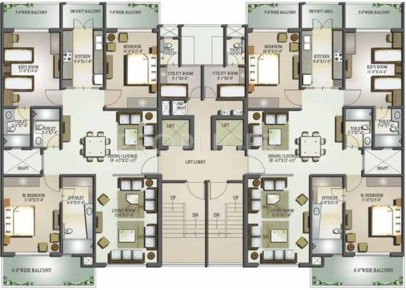 Images for Cluster Plan of Mahagun Moderne